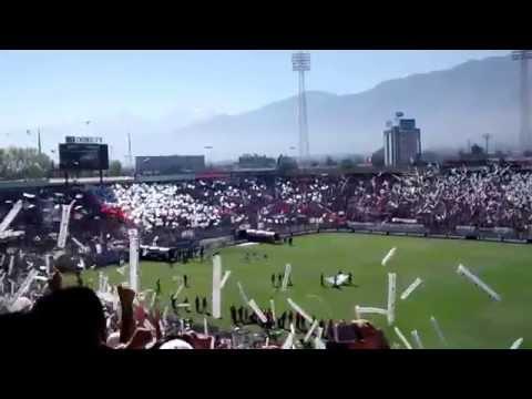 Salida Colo Colo campeón vs wanderers 2014 - Garra Blanca - Colo-Colo