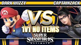 Dark Wizzy (Mario) vs CaptainZack (Bayonetta) - SSBU Demo - TBH8