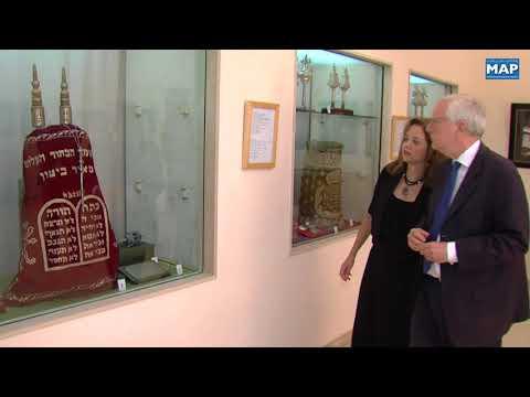 """Une délégation du """"National Press Club"""" de Washington en visite à la synagogue de Casablanca"""