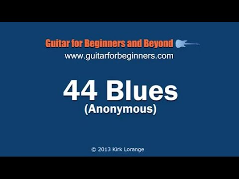 44 Blues – Guitar Lesson with virtual animated fretboard.