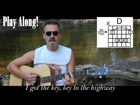 Key To The Highway With Lyrics & Chords - Acoustic Blues Cover - C70