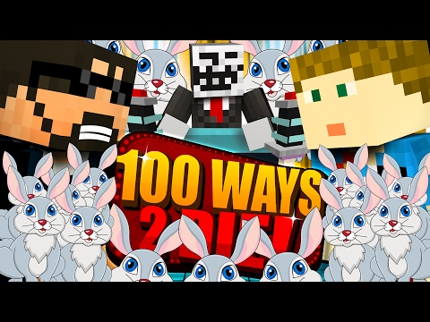 Minecraft: 100 WAYS TO DIE CHALLENGE - SO MANY RABBITS!! (видео)