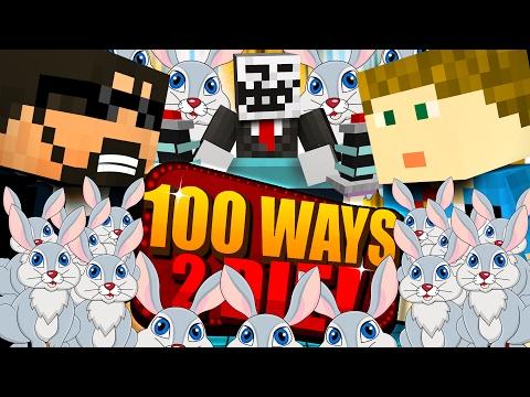 Minecraft: 100 WAYS TO DIE CHALLENGE - SO MANY RABBITS!! (видео)