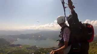 Flying on Pokhara, paragliding on pokhara