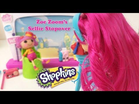 Shopkins Season 8 World Vacation Zoe Zoom's Selfie Stopover Playset
