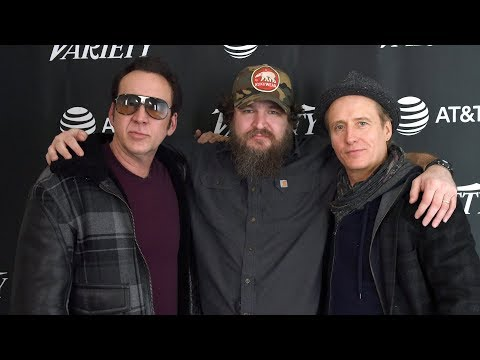 "Nicolas Cage and Linus Roache on ""Mandy"""