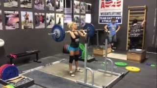 Heather jerks 74 kg (163 lbs) at 48 kg bodyweight