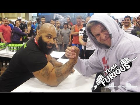 Arm Wrestling vs C.T. Fletcher | Furious Pete