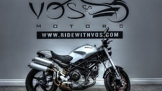 5. 2007 Ducati Monster S2R Walk Around Stock #V2030
