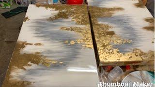Video Resin Art-Epoxy painting_on wood MP3, 3GP, MP4, WEBM, AVI, FLV Juli 2019