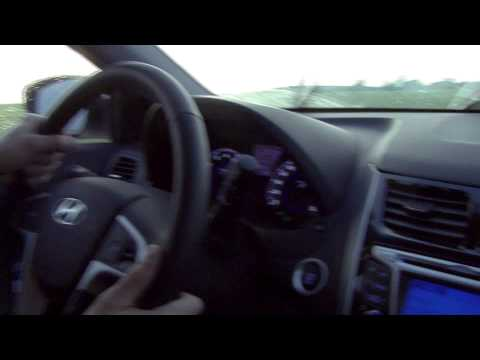 Hyundai Solaris Видеотест Hyundai Solaris