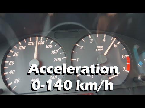 BMW 318Ci E46 Acceleration 0-140 km/h