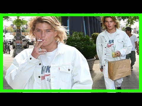 Jordan barrett smokes cigarette in all-white outfit   CNN latest news
