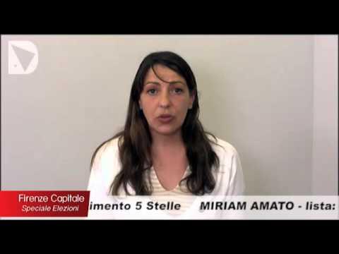 La candidata a sindaco di Firenze Miriam Amato ospite di FIRENZE CAPITALE - Speciale elezioni, condotta da Elisabetta Matini.