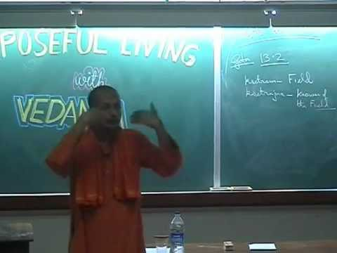 Swami Sarvapriyananda-'PURPOSEFUL LIVING WITH VEDANTA' at IIT anpur