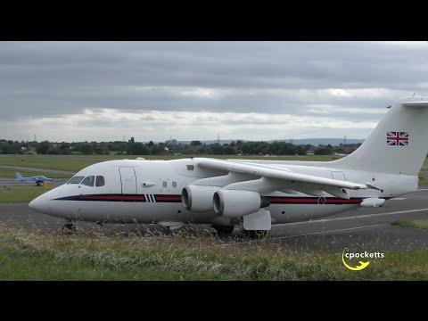 Queens Flight BAE 146 ZE701 - Very...