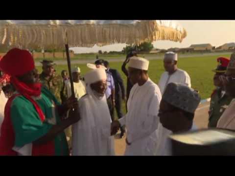 Arrival of President Buhari in Daura