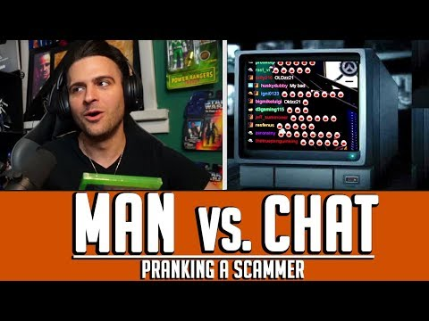Twitch Chat Reacts - Gnoming A Scammer on the Phone