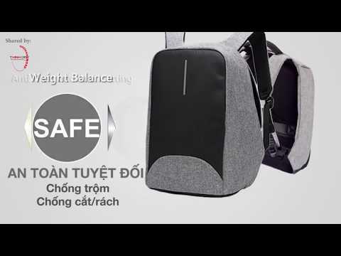 Balo laptop chống trộm – sạc pin