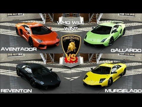 Forza 5   Lamborghini Aventador Vs Gallardo Vs Murcielago Vs Reventon  Gameplay