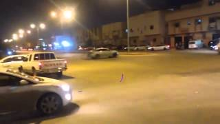 مفحط يتسبب بحادث اصطدام بين سيارتين بالرياض