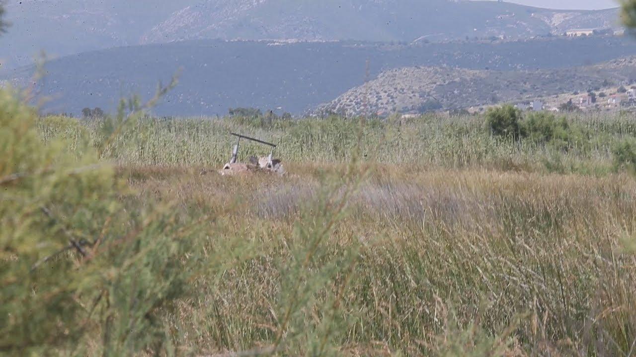 Δυο νεκροί από πτώση ψεκαστικού ελικοπτέρου στον Σχινιά