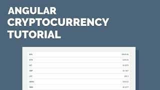 Angular CryptoCurrency Tutorial - Display Exchange Data with an API