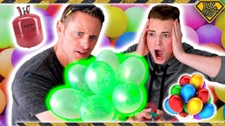 Helium vs. Bunch O Balloons Experiment by The King of Random