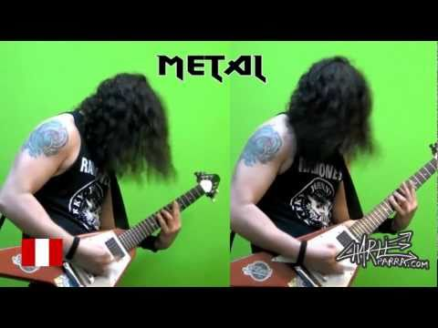 Metal - Tab and backing track at: http://www.jamtrackcentral.com/jamtracks/artist/charlie-parra Charlie Parra del Riego playing his song Punk Vs Metal, with all punk...