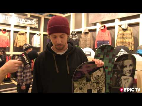 Sneak peak of the 2014 Burton Hate snowboard at ISPO 2013.