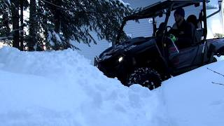 5. Yamaha Wolverine X2 - Plowing Snow, Real World Northern Review