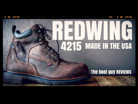 REDWING # 4215 Men's 6-inch Boot MADE IN USA [ The Boot Guy Reviews ]