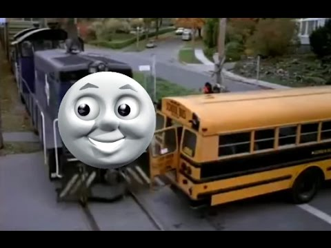 (YTP) Thomas the Dank engine tries to Rear End a Bus
