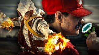 Mario vs Lara Croft, Master Chief and Assassin Connor