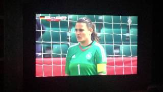 FIFA World Cup women. England - Germany bronze match. Penalty over time. 0-1.