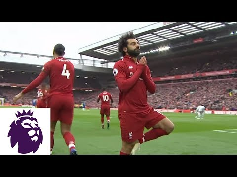 Mohamed Salah Curls In Unbelievable Goal Against Chelsea | Premier League | NBC Sports