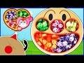 アンパンマン おもちゃアニメ お菓子がいっぱい! フェイスランチ皿  デザートプレート いっぱいのるかな? Toy Kids トイキッズ anpanman