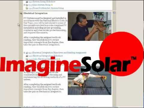 0 Foundations Online: Solar PV System Design & Installation