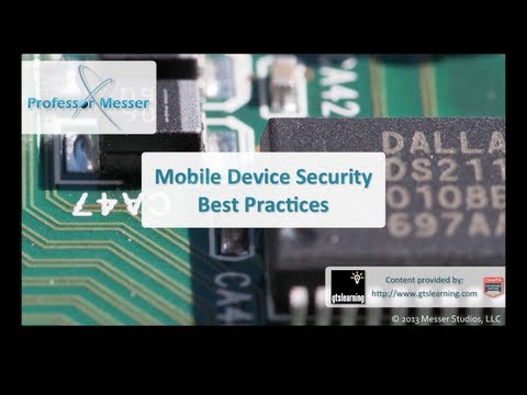 mobile device - See our entire index of CompTIA A+ videos at http://www.ProfessorMesser.com/aplus - Our mobile devices are easily lost or left unattended, and we need the be...