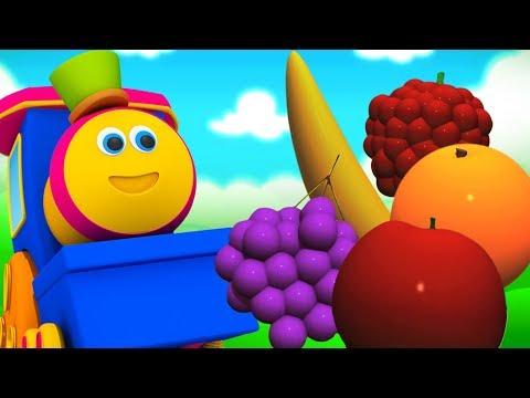 Bob o trem | Frutas para crianças | Crianças aprendem | Bob The Train | Learn Fruits | Kids Learning