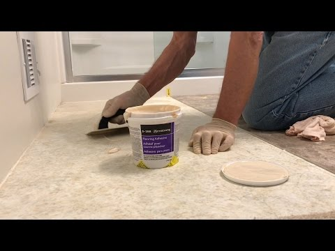 Luxury Vinyl Tile Installation Step 3: Spread The Adhesive