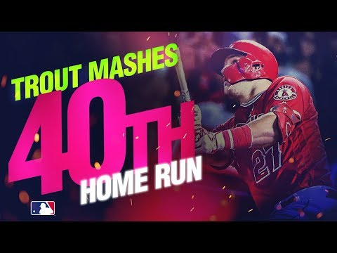 Video: Mike Trout mashes 40th HR in 2019