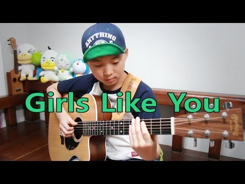 Girls Like You (Maroon 5) _ Fingerstyle guitar arranged & cover by Sean Song - Thời lượng: 4 phút.