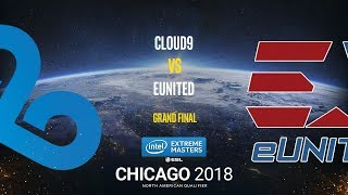 Cloud9 vs eUnited - IEM Chicago 2018 NA Quals - Grand final - map4 - de_cache [Anishared]