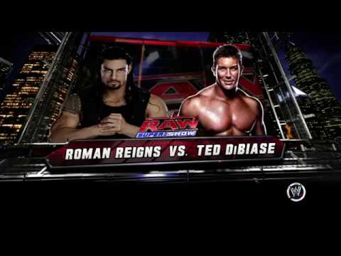 Video RAW Roman Reigns VS Ted Dibiase download in MP3, 3GP, MP4, WEBM, AVI, FLV January 2017