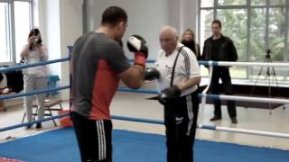 Open practice before European Heavyweight Division title - Berlin