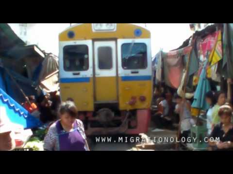 The Most Dangerous Train Track Market: Samut Songkhram, Thailand