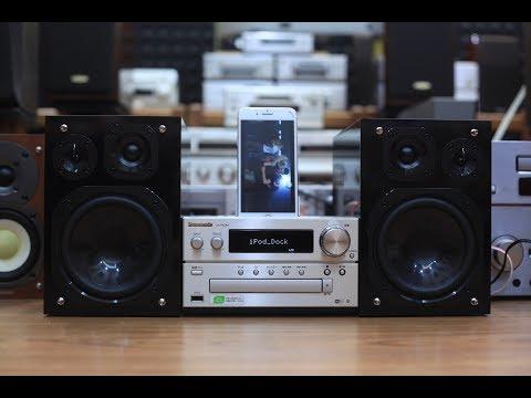 Dàn mini đa năng Panasonic PMX9 Bass trâu bò ^^ Bluetooth/Airplay/CD/USB/Iphone Dock