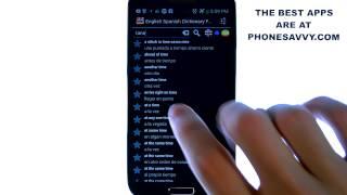 Offline English Spanish dict. YouTube video
