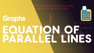 In this video we are going to look at parallel lines. You should already know that straight lines follow the equation y=mx+c and how to find the gradient. On a graph, parallel lines run in the same direction, with the same steepness. They have the same gradient. To find the equation of parallel lines, we still use the y=mx + c equation, and because they have the same gradient, we know straightaway that the gradient 'm' will be the same. We then just need to find the missing y-intercept 'c' value. Take the coordinate from the question substitute the x and y value into the y = mx + c equation (where you already know the gradient 'm' value). You will then be able to rearrange and solve for the missing y-intercept 'c' value. So to find the equation of a parallel line, you simply need to know that the gradient of parallel lines are always equal, and then use the y=mx + c equation.SUBSCRIBE to the FuseSchool YouTube channel for many more educational videos. Our teachers and animators come together to make fun & easy-to-understand videos in Chemistry, Biology, Physics, Maths & ICT.VISIT us at www.fuseschool.org, where all of our videos are carefully organised into topics and specific orders, and to see what else we have on offer. Comment, like and share with other learners. You can both ask and answer questions, and teachers will get back to you.These videos can be used in a flipped classroom model or as a revision aid. Find all of our Chemistry videos here:https://www.youtube.com/watch?v=cRnpKjHpFyg&list=PLW0gavSzhMlReKGMVfUt6YuNQsO0bqSMV Find all of our Biology videos here: https://www.youtube.com/watch?v=tjkHzEVcyrE&list=PLW0gavSzhMlQYSpKryVcEr3ERup5SxHl0 Find all of our Maths videos here:https://www.youtube.com/watch?v=hJq_cdz_L00&list=PLW0gavSzhMlTyWKCgW1616v3fIywogoZQ Twitter: https://twitter.com/fuseSchoolAccess a deeper Learning Experience in the FuseSchool platform and app: www.fuseschool.orgFollow us: http://www.youtube.com/fuseschoolFriend us: http://www.facebook.com/fuseschoolThis Open Educational Resource is free of charge, under a Creative Commons License: Attribution-NonCommercial CC BY-NC ( View License Deed: http://creativecommons.org/licenses/by-nc/4.0/ ).  You are allowed to download the video for nonprofit, educational use. If you would like to modify the video, please contact us: info@fuseschool.org